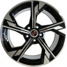 20 inch NEW RS5 0M55AD-9160 : 尺寸:20X9.0, PCD:5X112B, ET:+35, CB:66.45, FINISH:GLOSS BLACK MACHINED FACE/RIM