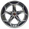 17 inch Focus RS 7H55FD-623 : 尺寸:17X7.5, PCD:5X108C, ET:+48, CB:63.4, FINISH:HYPER BLACK