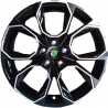 "8M15SK-SM55 SKODA 18"" 5X112 BALL SEAT OCTAVIA RS : SIZE:18X8.0, PCD:5X112B, ET:+40, CB:57.1, FINISH:GLOSS BLACK MACHINED FACE/RIM"