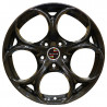 18 inch Alfa Romeo Classic Sport 8P15OP-1001 : 尺寸:18X8.0, PCD:5X110, ET:+38, CB:65.1, FINISH:GLOSS BLACK PAINTED