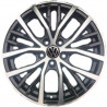 "7M15VW-0952 VOLKSWAGEN 17"" 5X112B GOLF GTI POLO : SIZE:17X7.5, PCD:5X112B, ET:+42, CB:57.1, FINISH:GLOSS BLACK MACHINED FACE/RIM"