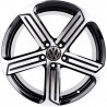 "VOLKSWAGEN 18"" 5X112B GOLF GTI 8M55VW-5466 : SIZE:18X8.0, PCD:5X112B, ET:+42, CB:57.1, FINISH:GLOSS BLACK MACHINED FACE/RIM"