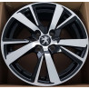 "Peugeot 15""  4X108 5M14PG-E081B : SIZE:15X6.0, PCD:4X108, ET:+23, CB:65.1, FINISH:GLOSS BLACK MACHINED FACE/RIM"
