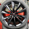 "Tesla 22"" 21"" Model S Model X 2P15TS-1385 : SIZE:22X10, PCD:5X120C, ET:+35, CB:64.1, FINISH:MATT BLACK PAINTED"