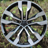 copy of 18 inch Tiguan 8M15VW-5333 : SIZE:20X8.5, PCD:5X112B, ET:+41, CB:57.1, FINISH:GLOSS BLACK MACHINED FACE/RIM