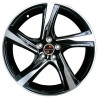 18 inch Volvo S80 8M55VL-75080 : 尺寸:18X7.5, PCD:5X108C, ET:+55, CB:63.4, FINISH:GUN METAL MACHINED FACE/RIM