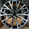 19 inch A6 2018 Gloss Black Machined 9M15AD-949 : 尺寸:19X8.5, PCD:5X112B, ET:+35, CB:66.56, FINISH:GLOSS BLACK MACHINED FACE/RIM