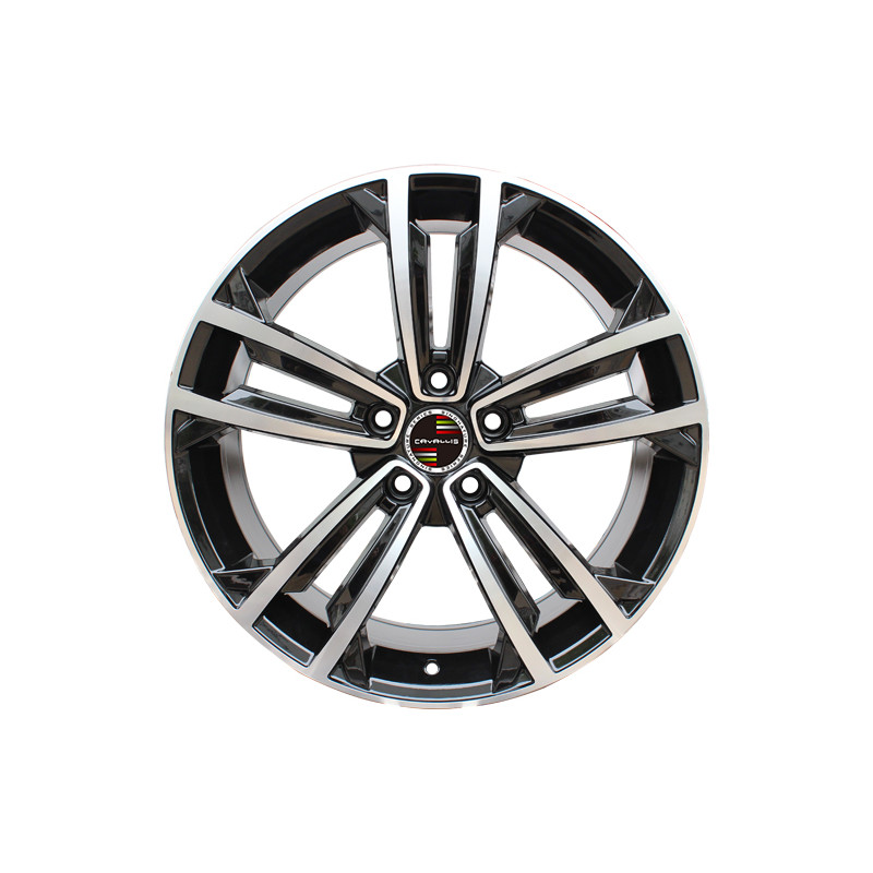 8M15VW-5287 VOLKSWAGEN 18 inch Golf GTI Machined Face Gloss Black Red Rim