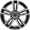 8M15VW-5287 VOLKSWAGEN 18 inch Golf GTI Machined Face Gloss Black Red Rim : SIZE:18X8.0, PCD:5X112B, ET:+45, CB:57.1, FINISH:GLOSS BLACK MACHINED FACE/RIM