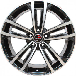 9M15VW-5287 VOLKSWAGEN 19 inch Golf GTI Machined Face Gloss Black Red Rim