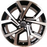 "9M15VW-5573 VOLKSWAGEN 19"" 5X112B Golf GTI : SIZE:19X7.5, PCD:5X112B, ET:+50, CB:57.1, FINISH:GLOSS BLACK MACHINED FACE/RIM"