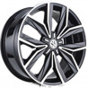19 inch Tiguan 2017 9M15VW-1269 : 尺寸:19X8.0, PCD:5X112B, ET:+43, CB:57.1, FINISH:GLOSS BLACK MACHINED FACE/RIM